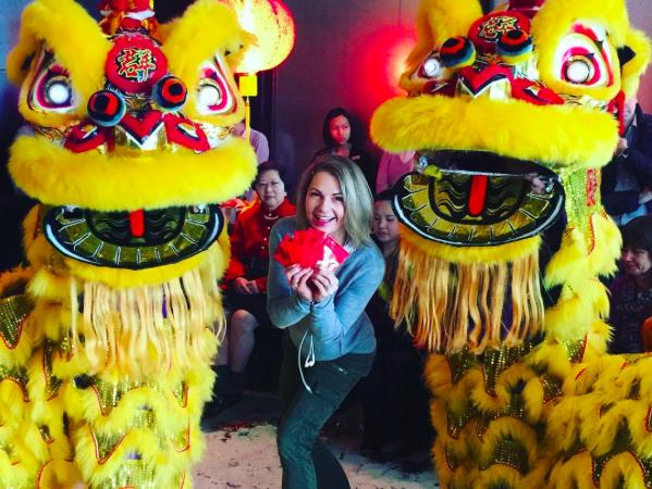 Chinese New Year Lion Dance at Shangri La Hong Kong