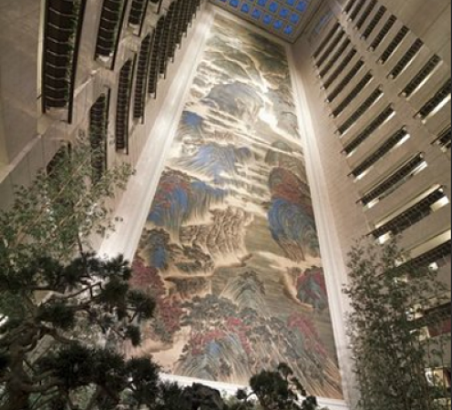World's largest silk indoor mural